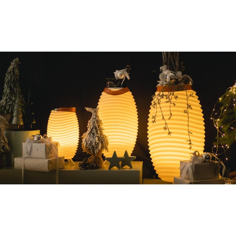Lampe LED seau à champagne haut-parleur enceinte bluetooth KOODUU SYNERGIE S 65 (blanc) - image 50349