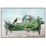 Decorative painting on canvas PERROQUET