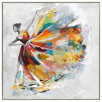 Pittura decorativa su tela DANSEUSE