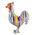 Statue decorative sculpture design COQ TRASH (H170) (Multicolored)