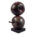 Statue decorative sculpture design DUO POMMES (H55 cm) (black)