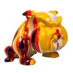 Scultura statua design decorativo CHIEN CARTOON (H27) (Multicolore)
