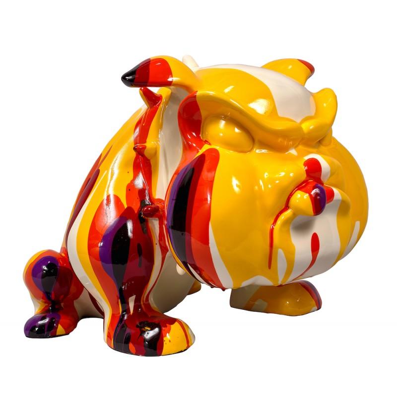 Statue sculpture décorative design CHIEN CARTOON (H27) (Multicolore)