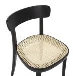 Chair 44X48X76 Wood Black Rattan Natural