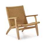 Armchair 70X74X74 Wood Rope Natural