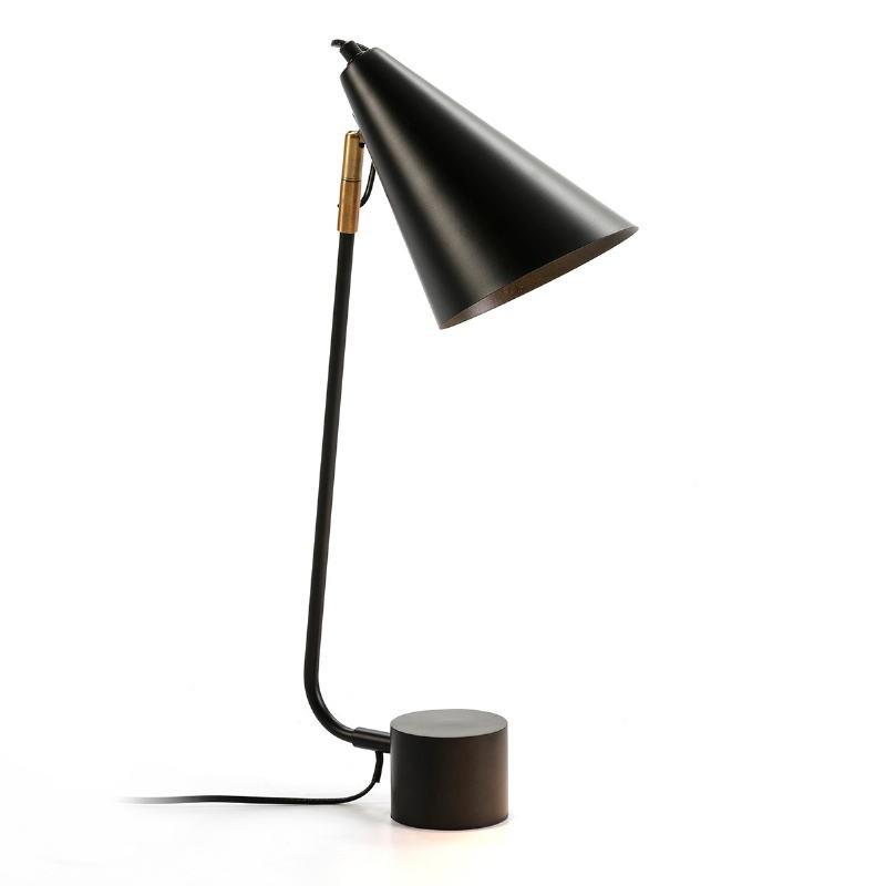 Lampe de Table 26x26x60 Métal Noir