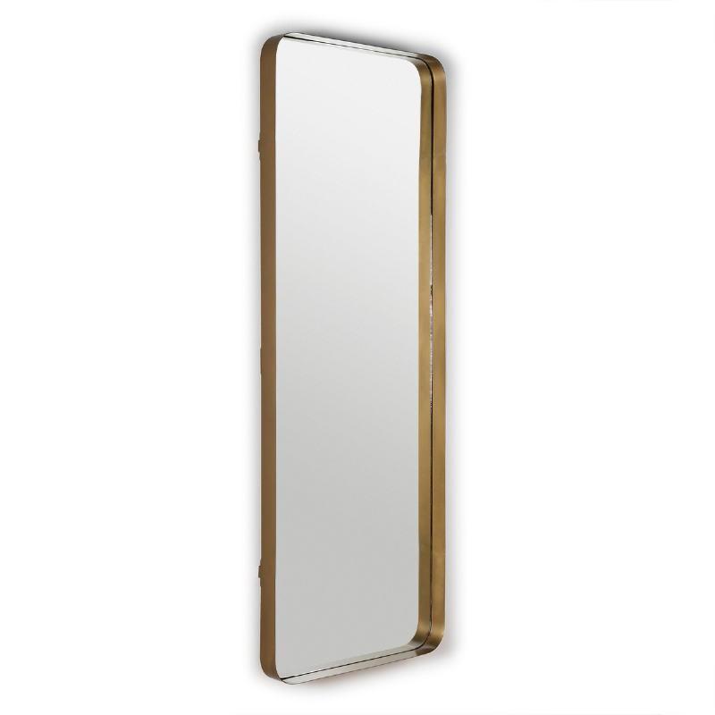 Espejo 70X7X190 Cristal Metal Dorado
