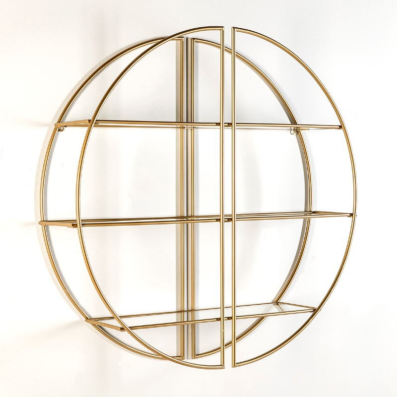Shelf 100X23X100 Glass Metal Golden - image 50691