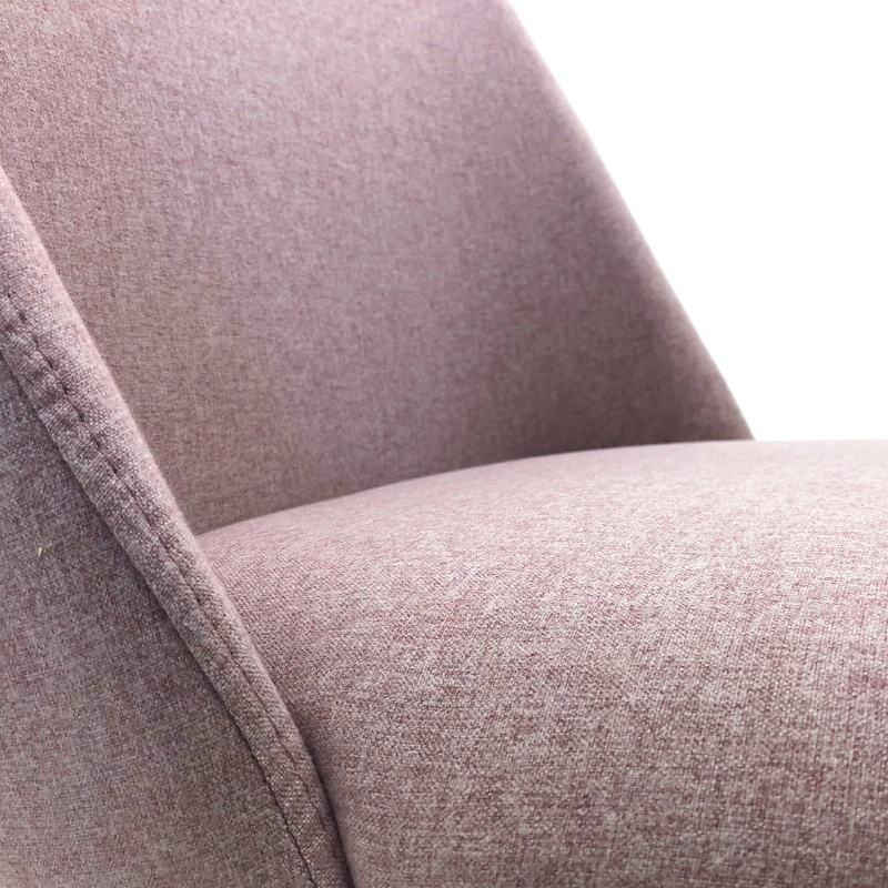 Chaise 56x52x77 Métal Noir tissu Rose - image 50717