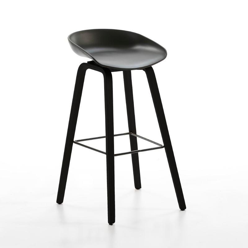 Hocker 50X46X83 Holz/Metall/Acryl Schwarz - image 50722