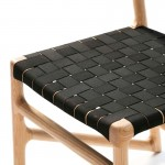 Snack Stool 40X51X94 Ash Wood Natural Fabric Black
