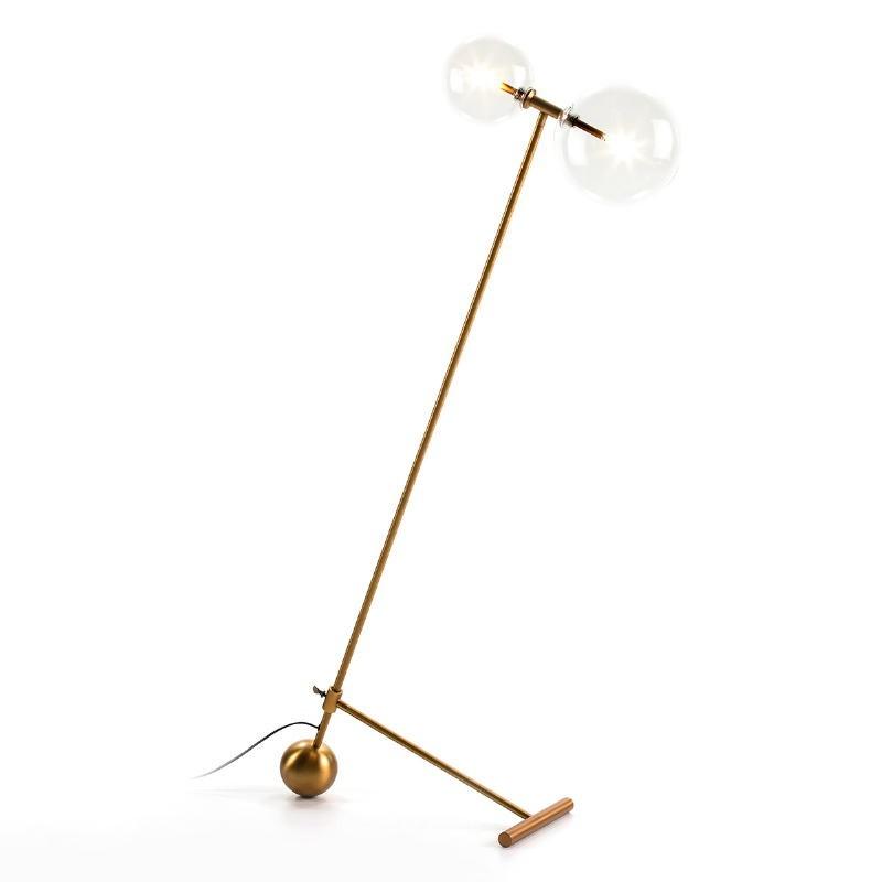 Standard Lamp 80X24X130 Glass Metal Golden