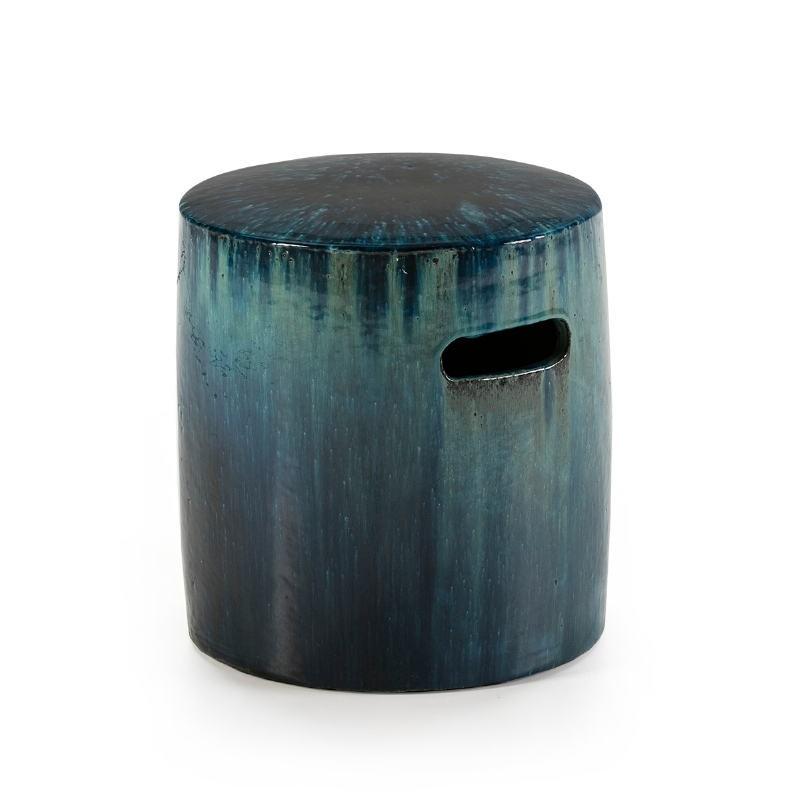 Stool 38X38X42 Stoneware Green