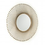 Specchio 91X5X91 Vetro Metallo Dorato