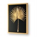 Frame 60X5X80 Glass Wood Golden Metal Golden
