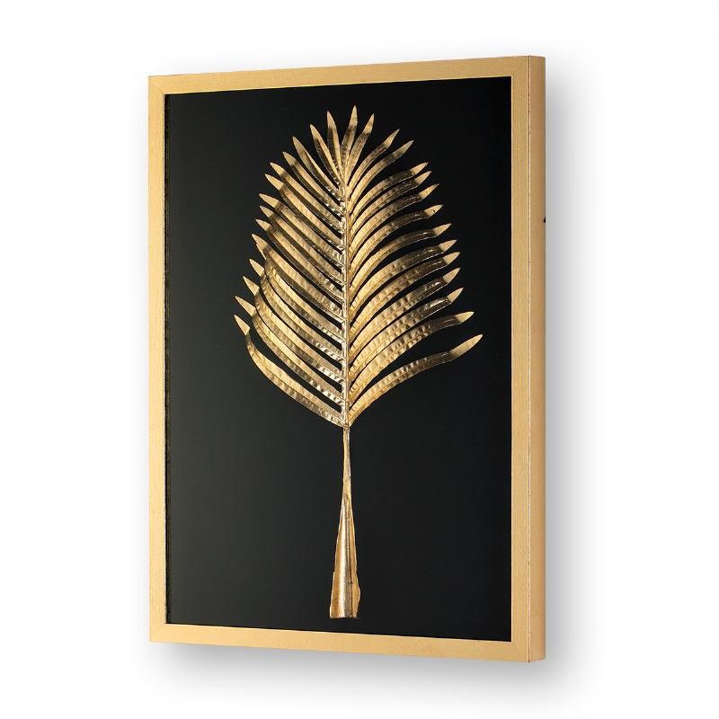 Bild 60X5X80 Glas/Holz/Metall Golden Modell 2 - image 50850
