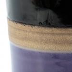 Sgabello 33X33X43 Ceramica Lilla Crema Nero