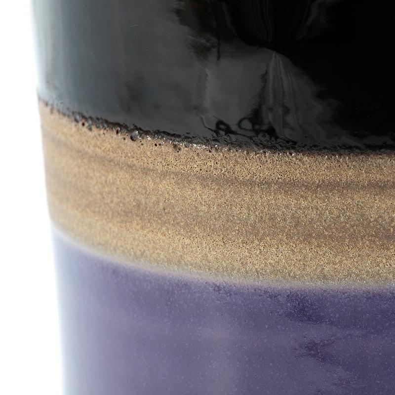 Sgabello 33X33X43 Ceramica Lilla Crema Nero - image 50860