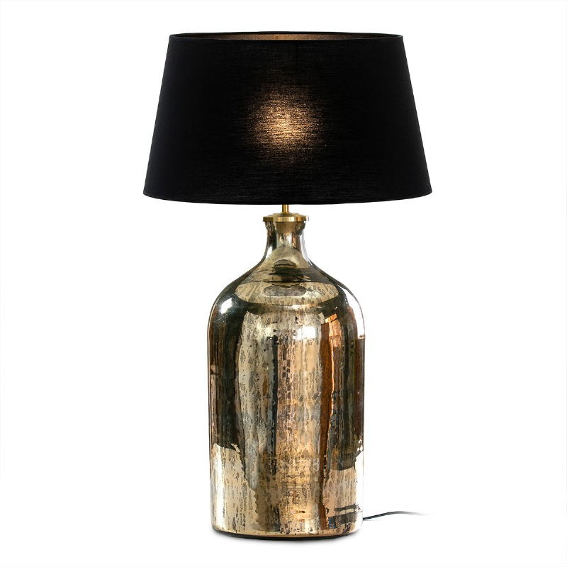 Table Lamp Without Lampshade 28X28X60 Glass Gold Antique