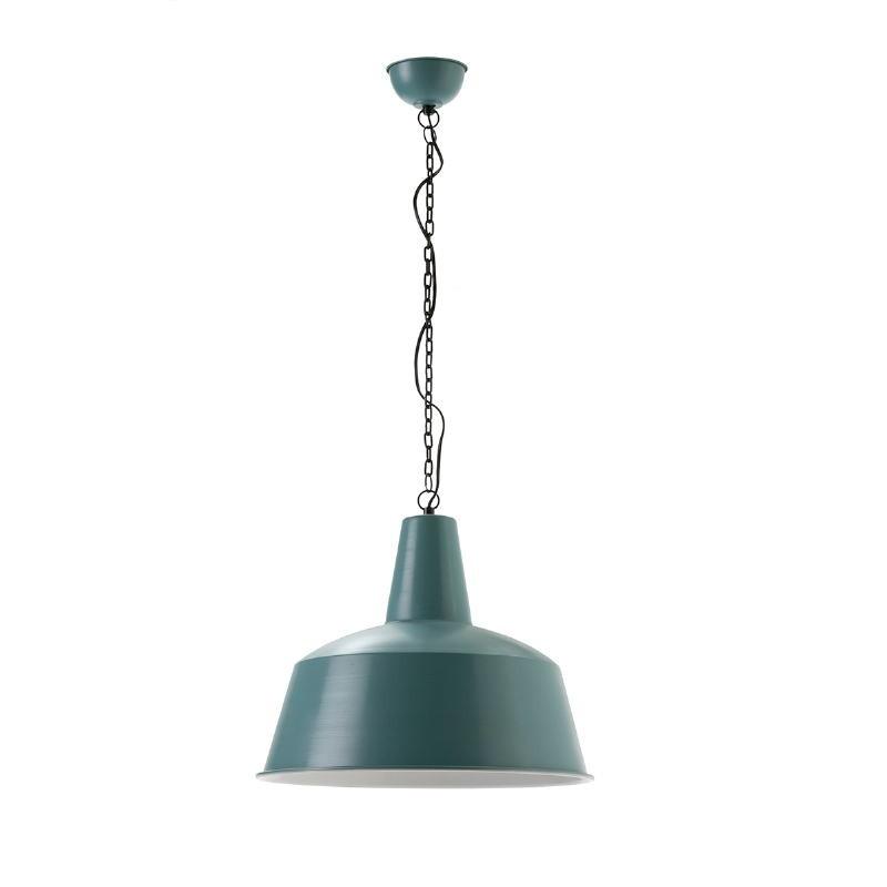 Hanging Lamp 45X45X40 Metal Blue White