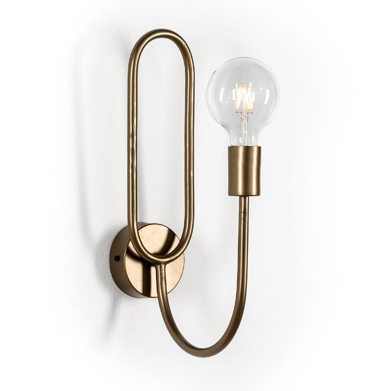 Wall Lamp 10X26X41 Metal Golden