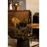 Table basse 70x70x36 Bois Marbre Noir
