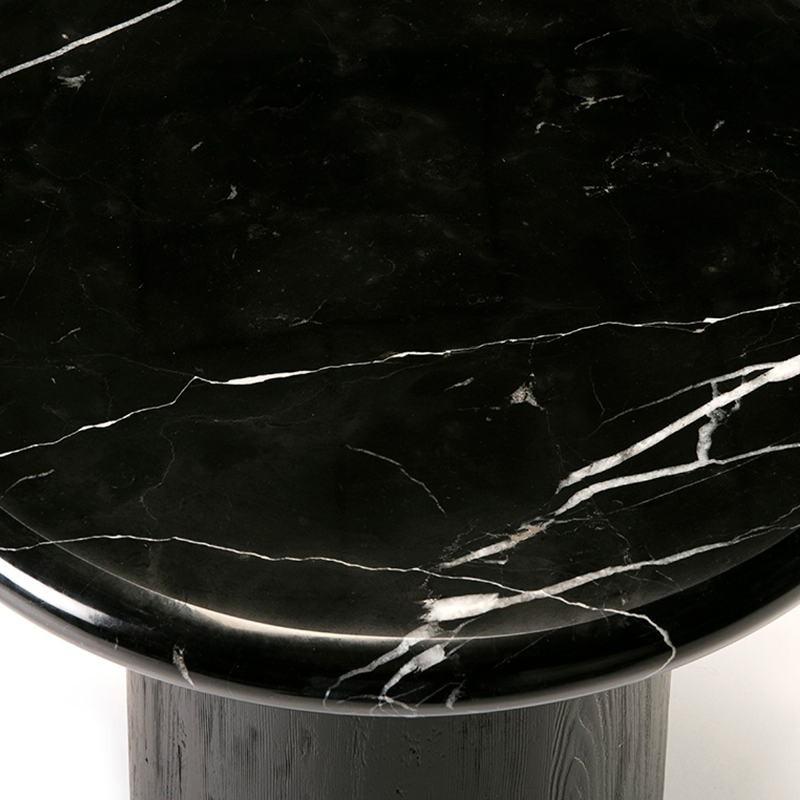 Table basse 70x70x36 Bois Marbre Noir - image 50917