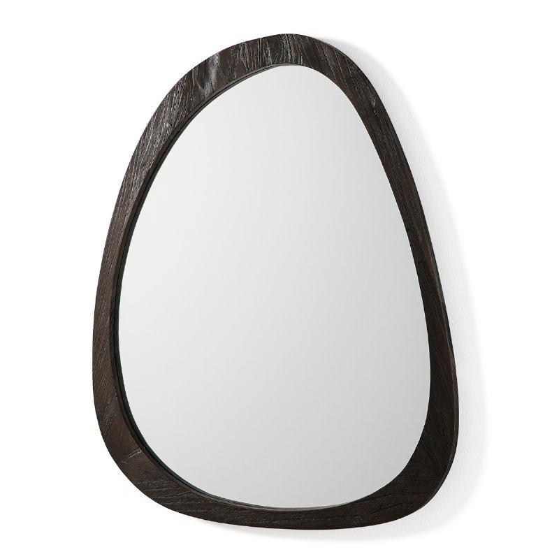 Spiegel 101X3X79 Glas/Holz Brown
