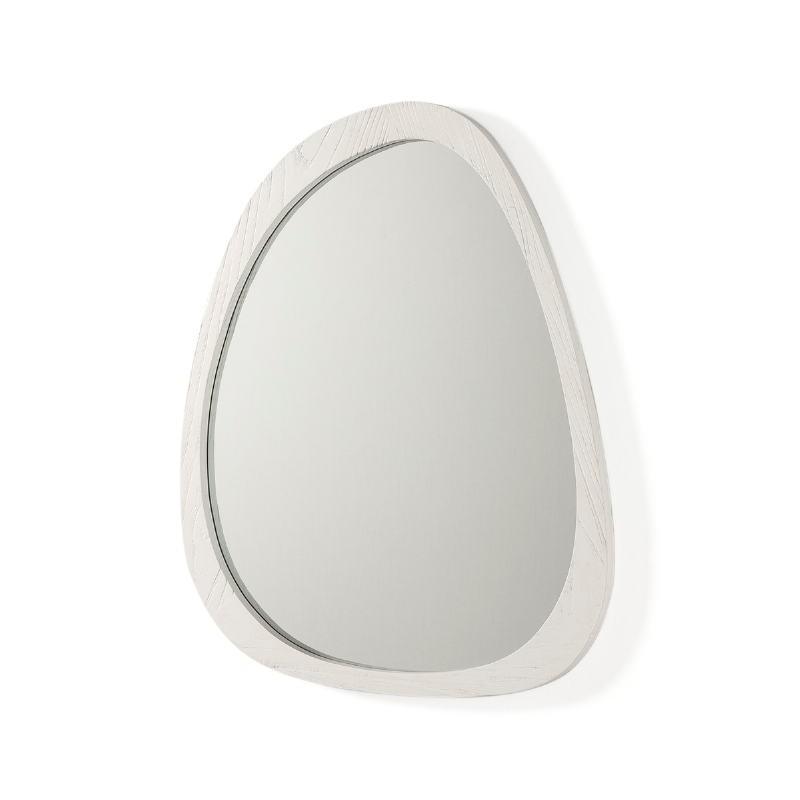 Espejo 81X3X62 Cristal Madera Blanco