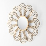Mirror 81X2X81 Glass Metal Golden