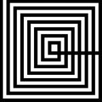 Bild 100X3X100 Methacrylat Weiß / Schwarz