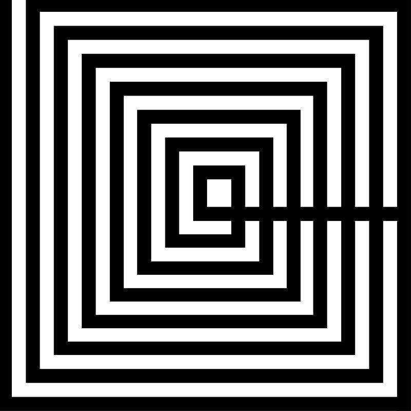 Cuadro 100X3X100 Metacrilato Blanco Negro - image 51183