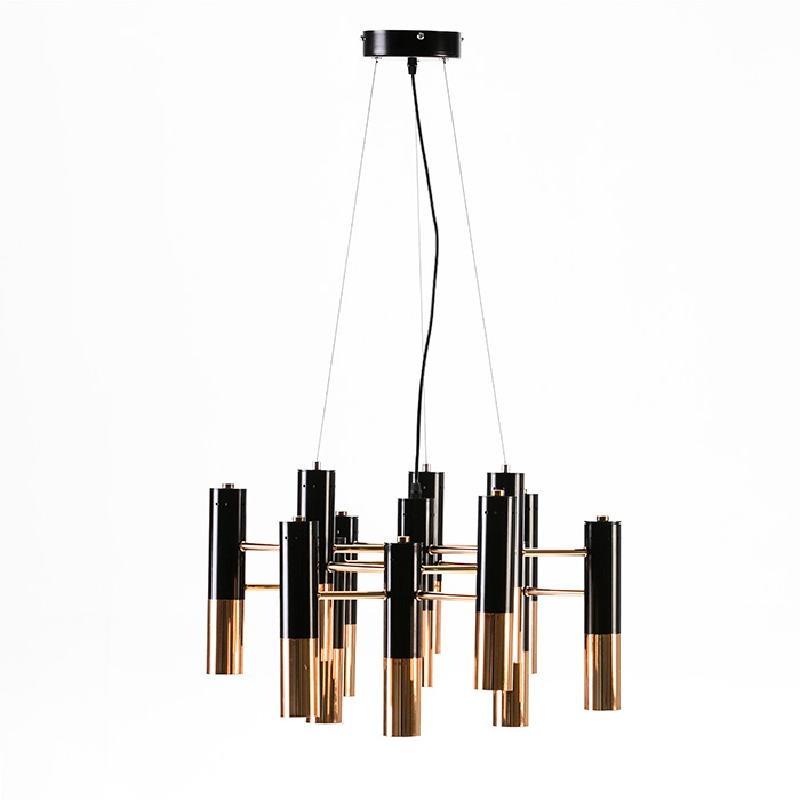 Lampada A Sospensione 59X52X39 Metallo Dorato Nero