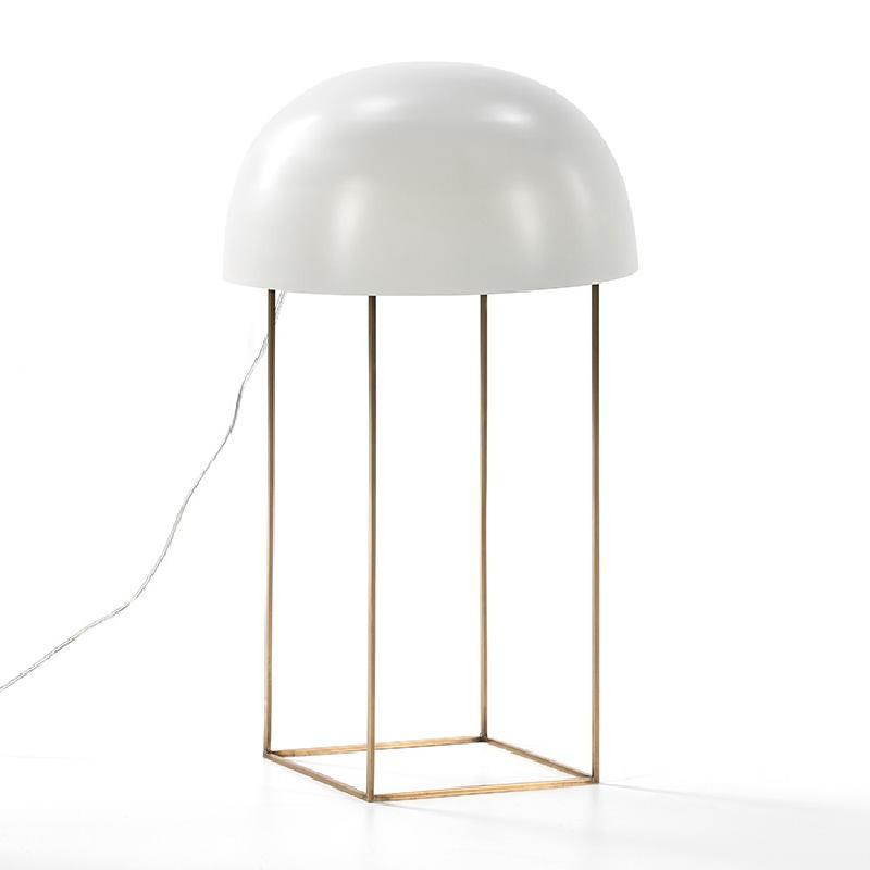 Lampe de Table 20x33x70 Métal Doré Blanc