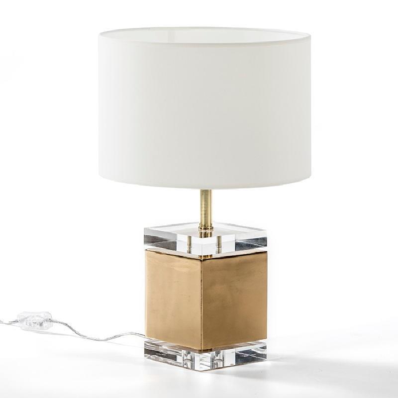 Lampe Auf Tisch Ohne Bildschirm 13X13X34 Acryl/Metall Golden