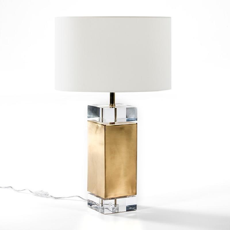 Lampe Auf Tisch Ohne Bildschirm 13X13X50 Acryl/Metall Golden