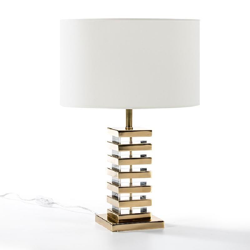 Lampe Auf Tisch Ohne Bildschirm 15X15X41 Acryl/Metall Golden - image 51218