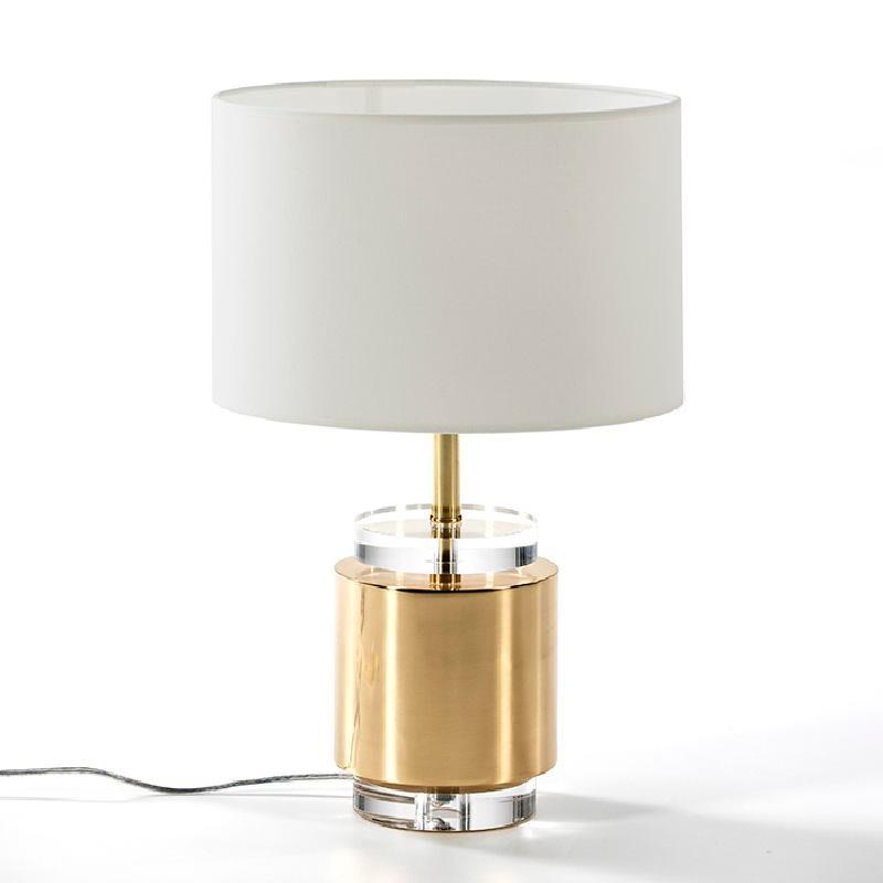 Lampe Auf Tisch Ohne Bildschirm 14X14X33 Acryl/Metall Golden