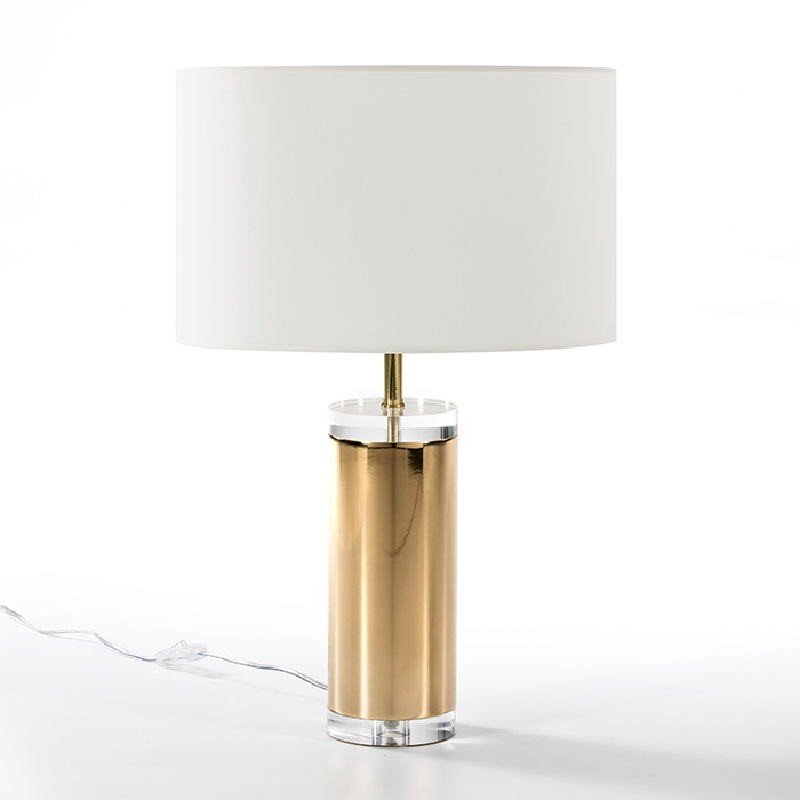 Table Lamp Without Lampshade 12X44 Acrylic Metal Golden - image 51223