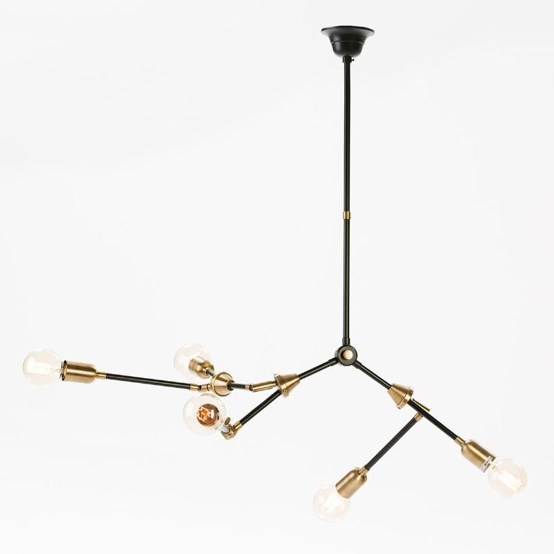 Hanging Lamp 100X6X101 Metal Golden Black