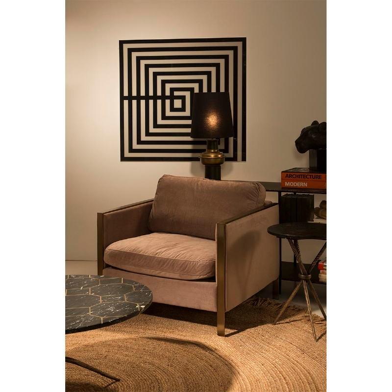 Lampe de Table sans abat-jour 20x41 Métal Noir Doré - image 51238
