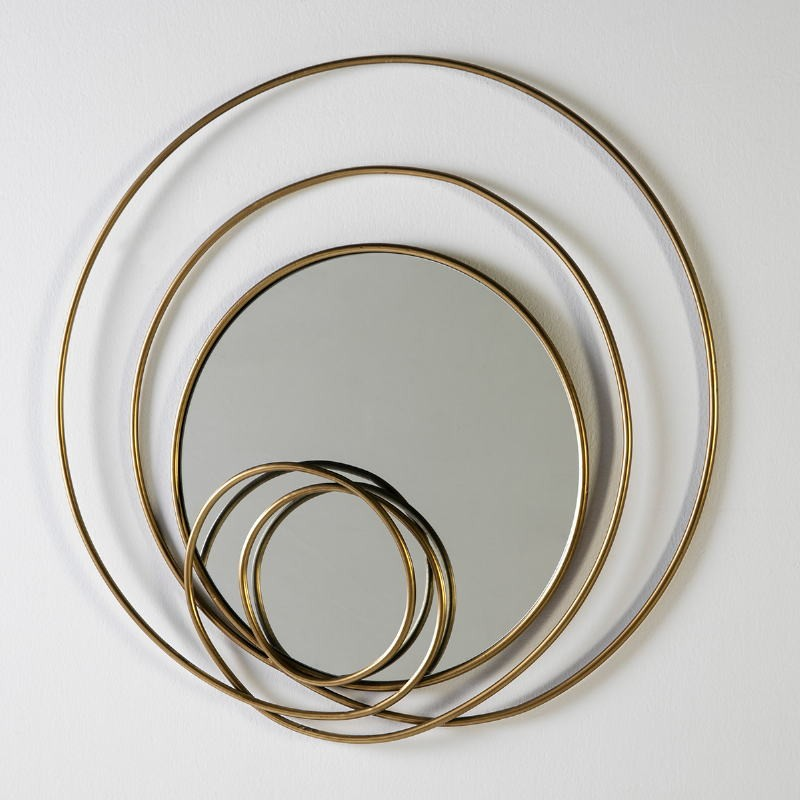 Mirror 80X7X80 Glass Metal Golden - image 51247