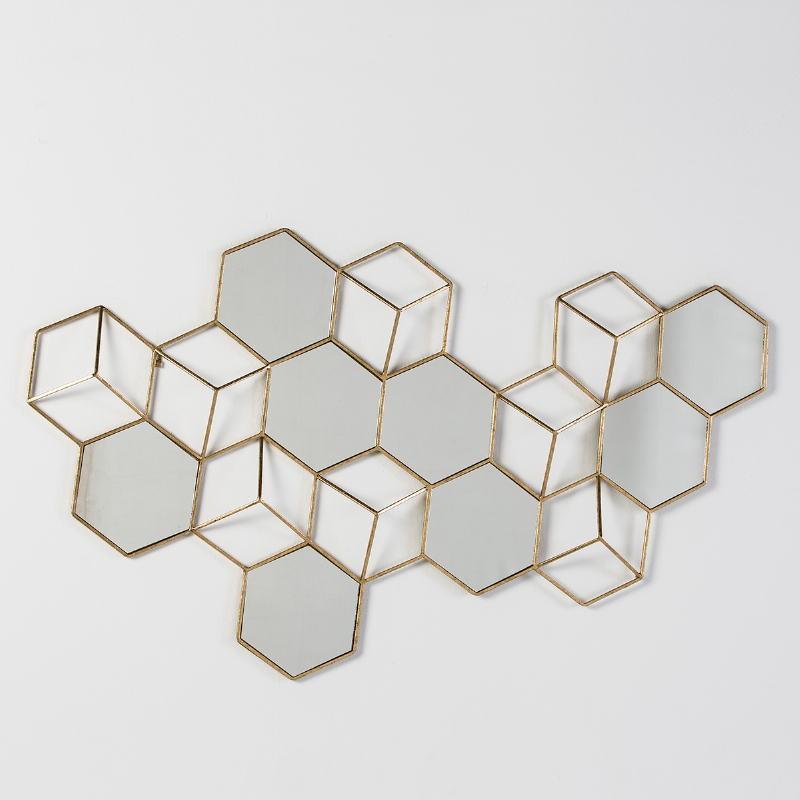 Skulptur 130X5X73 Spiegel/Metall Golden