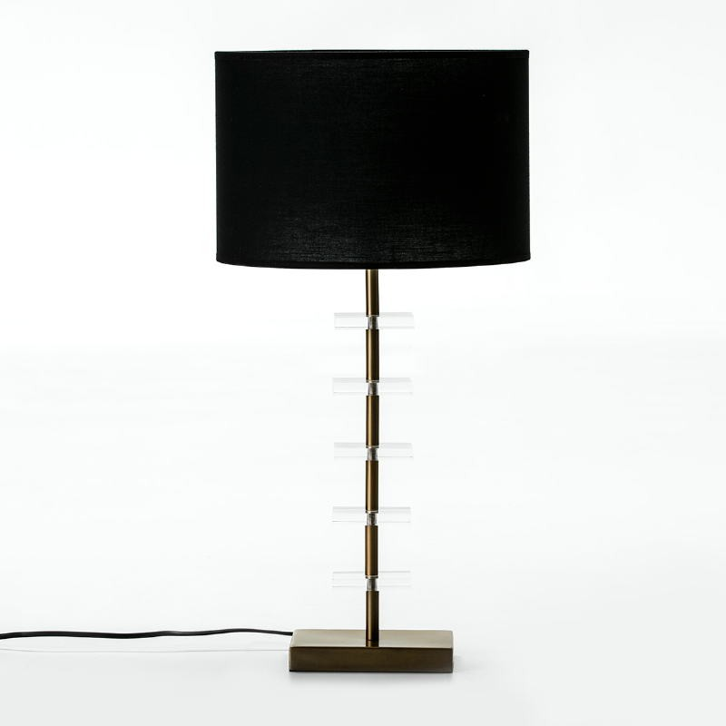 Lampe Auf Tisch Ohne Bildschirm 15X11X43 Metall/Acryl Golden/Transparent - image 51289