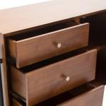 Sideboard 1 Door 3 Drawers 120X45X90 Wood Brown Black
