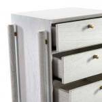 Table de chevet 3 tiroirs 50x40x61 Bois Blanc