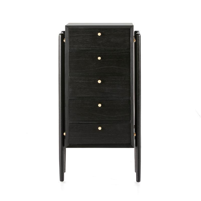 Chiffonier 60X40X110 Wood Black - image 51414