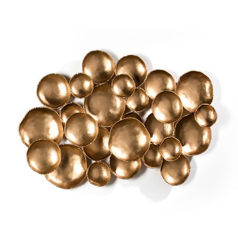 Wall Sculpture 121X10X70 Metal Golden - image 51417