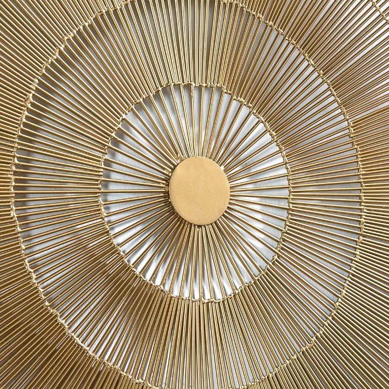 Escultura De Pared 81X8X81 Metal Dorado - image 51421