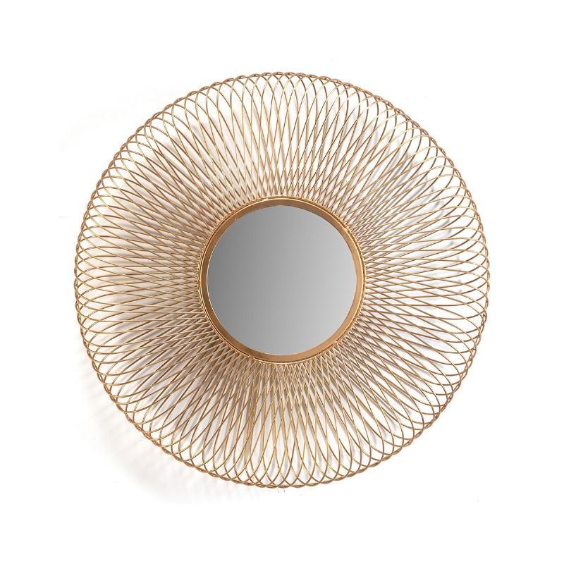 Spiegel 79X10X79 Glas/Metall Golden